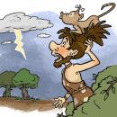 Caveman - Illustration for children's books. Un proyecto de Ilustración, Ilustración digital e Ilustración infantil de Alicia Roig - 18.04.2021