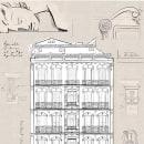 Madrid 1915. Um projeto de Ilustração, Ilustração digital, Desenho artístico, Decoração de interiores e Ilustração Arquitetônica de Félix Díaz de Escauriaza - 01.10.2020