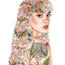 Mi Proyecto Retrato ilustrado en acuarela. Un proyecto de Ilustración, Dibujo a lápiz, Dibujo, Ilustración digital, Pintura a la acuarela, Ilustración de retrato, Ilustración botánica y Dibujo digital de Soledad Delgado Oyarzún - 09.05.2020