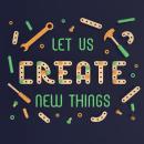 Let Us Create New Thongs - 3D Lettering . Un proyecto de Ilustración, 3D, Lettering, Modelado 3D, Diseño 3D y Lettering 3D de Camilo Belmonte - 21.04.2021