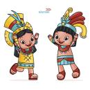 Xelo y Xen. Diseño de Personajes.. Um projeto de Ilustração, Design de personagens, Educação e Ilustração infantil de Alietta Carbajal - 02.05.2020
