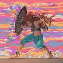 Mucha Lucha!. A Character Design, Drawing, Digital illustration, Portrait illustration, Concept Art, Realistic drawing, Artistic drawing, Digital Drawing, Figure drawing , and Manga Drawing project by Rodrigo Sevilla - 04.23.2021