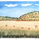 Mi Proyecto del curso: Cuaderno de viaje en acuarela _Grecia. Um projeto de Pintura em aquarela e Desenho artístico de Karina Rosmery Lozano Rodríguez - 23.04.2021