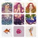 Portfolio de ilustración en Instagram. A Illustration, Pattern Design & Instagram project by PlastikQueen - 03.12.2021