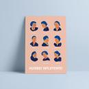 Mujeres influyentes. Um projeto de Ilustração e Ilustração de retrato de eluguina - 28.04.2021