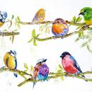 """""""Charlas matutinas"""". Mi Proyecto del curso: Acuarela artística para ilustración de aves. A Fine Art project by Loli Crespo - 04.28.2021"""