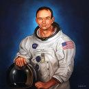 Michael Collins. Un proyecto de Ilustración e Ilustración de retrato de Rubén Megido - 29.04.2021