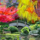 Japanischer Garten. Un proyecto de Ilustración de Tews Andreas - 01.05.2021