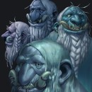 """Northern Trolls, """"Those with the perpetual grin"""". A Illustration, Character Design, Painting, Sketching, Drawing, Digital illustration, Stor, telling, Portrait illustration, Concept Art, Portrait Drawing, Artistic drawing, Instagram, Digital Drawing, and Digital Painting project by Guillermo San José Corrales - 02.07.2020"""