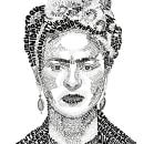 Frida Kahlo. Un proyecto de Ilustración, Tipografía, Ilustración de retrato y Dibujo de Retrato de Begoña Blázquez Parro - 09.05.2021