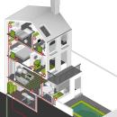 Infografía vectorial isométrica sobre energía geotermia en el hogar. Un proyecto de Diseño gráfico, Infografía, Ilustración vectorial, Ilustración digital y Visualización arquitectónica de Raquel Feria Legrand - 01.04.2021