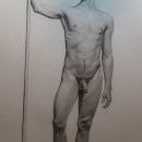 Mi Proyecto del curso: Dibujo realista de la figura humana 40 cm x 27 cm. A Pencil drawing project by Lutecia - 03.31.2021