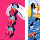 Ilustraciones para Corriere Della Sera - La Lettura. Un proyecto de Diseño, Ilustración, Diseño editorial e Ilustración editorial de Davide Abbati - 02.04.2021