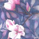 Mi Proyecto del curso: Magnolias en negativo. Um projeto de Ilustração, Pintura em aquarela e Ilustração botânica de Cecilia Rodríguez Barreiro - 14.05.2021
