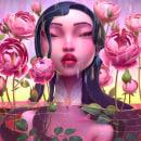 Lady in the water. Um projeto de Ilustração, 3D, Modelagem 3D e Design de personagens 3D de Fer Aguilera Reyes - 05.05.2021