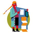 SANTILLANA DEUTSCH. Un proyecto de Ilustración, Educación y Diseño Web de Daniel Montero Galán - 15.05.2021