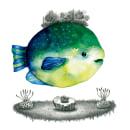 Pequeñas Criaturas Marinas. Un proyecto de Diseño, Ilustración, Bellas Artes, Pintura, Dibujo a lápiz, Dibujo y Concept Art de César Caycho - 19.05.2021