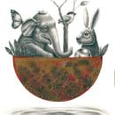 Animales en la Luna. Un proyecto de Diseño, Ilustración, Bellas Artes, Dibujo, Dibujo realista y Dibujo artístico de César Caycho - 19.05.2021