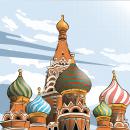 Saint Basil's Cathedral, Moscow. Un proyecto de Ilustración, Arquitectura, Paisajismo e Ilustración vectorial de Sebastián Balderas Espinosa - 21.03.2021