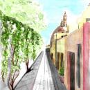 Mi Proyecto del curso: Dibujo arquitectónico con acuarela y tinta. Un proyecto de Bocetado, Dibujo, Pintura a la acuarela, Ilustración arquitectónica, Sketchbook e Ilustración con tinta de Claudia Leonela Valladares Millán - 24.05.2021