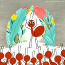 Un millón de hormigas. Um projeto de Ilustração, Ilustração infantil e Pintura guache de Julia Bereciartu - 26.05.2021