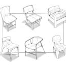 Chairs Sketches . Un proyecto de Diseño de muebles, Diseño industrial, Bocetado, Dibujo y Dibujo digital de Rodrigo Chávez Heres - 31.03.2021