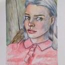 Mi Proyecto del curso: Cuaderno de retratos en acuarela. Un proyecto de Pintura, Pintura a la acuarela, Ilustración de retrato, Dibujo de Retrato y Sketchbook de ismadxd7 - 28.05.2021
