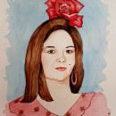 Mi Proyecto del curso: Retrato malagueño en acuarela. Um projeto de Ilustração, Pintura em aquarela, Ilustração de retrato e Desenho de Retrato de Karina Rosmery Lozano Rodríguez - 16.05.2021