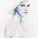 Chica seria. Um projeto de Desenho, Pintura em aquarela, Ilustração de retrato, Desenho de Retrato e Desenho artístico de Ana Sánchez Tejedor - 28.05.2021