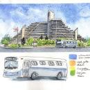 My project in Watercolor Travel Journal course. A Illustration, Aquarellmalerei, Architektonische Illustration und Sketchbook project by Camila Picheco - 01.06.2021