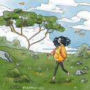 Through the meadow . Un proyecto de Ilustración, Diseño de personajes, Ilustración digital e Ilustración infantil de Ely Astorga - 08.02.2021