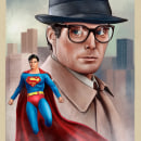 Clark Kent. A Illustration, and Digital illustration project by Oscar Martinez - 04.06.2021