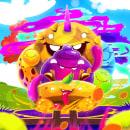 MONSTER HAPPY VECTOR BY OSCAR CREATIVO. Um projeto de Design, Ilustração, Publicidade, Direção de arte, Design de personagens, Pintura e Ilustração editorial de Oscar Creativo - 07.06.2021