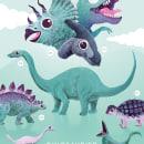Dino Poster. Un proyecto de Ilustración e Ilustración infantil de abstrusa - 08.06.2021