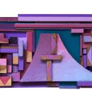 """Painel de madeira """"A onda da cidade"""". Un proyecto de Pintura y Pintura acrílica de Dafne Nass - 08.06.2021"""