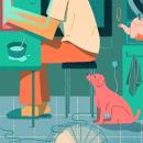 Teletrabajo. Um projeto de Ilustração, Animação, Animação de personagens, Animação 2D e Ilustração digital de Dani Maiz - 10.06.2021