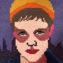 Mi Proyecto del curso: Creación de retratos en punto de cruz. A Portrait illustration, Embroider, Textile illustration, Decoration, and Crochet project by Isabel Cristina Rengifo T. - 06.11.2021