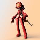 Flcl fanart. Um projeto de 3D, Design de personagens, Escultura, Modelagem 3D, Design de personagens 3D, 3D Design, To, Art e Desenho mangá de Mario Arias Mena - 14.06.2021