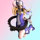 Bridget fanart. Um projeto de 3D, Design de personagens, Escultura, Modelagem 3D, Design de personagens 3D, To, Art e Desenho mangá de Mario Arias Mena - 14.06.2021