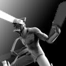 Chainsawman fanart. Um projeto de 3D, Design de personagens, Escultura, Comic, Modelagem 3D, Design de personagens 3D, 3D Design, To, Art e Desenho mangá de Mario Arias Mena - 14.06.2021