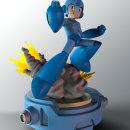 Megaman fanart. Um projeto de 3D, Design de personagens, Design de produtos, Escultura, Design de brinquedos, Comic, Produção, Modelagem 3D, Design de personagens 3D, 3D Design, To, Art e Desenho mangá de Mario Arias Mena - 14.06.2021