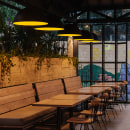Hamburguesas El Corral. Um projeto de Design, Design industrial, Arquitetura de interiores, Design de interiores, Design de produtos, Decoração de interiores e Interiores de Laura Palacio - 03.11.2017