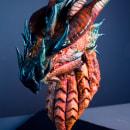 Escultura en chocolate de un dragón. Um projeto de Criatividade, Escultura e Modelagem 3D de Marc Suárez Mulero - 15.06.2021