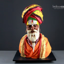 Escultura comestible en chocolate de un hombre de Varanasi, India. Um projeto de Criatividade, Escultura e Modelagem 3D de Marc Suárez Mulero - 15.06.2021