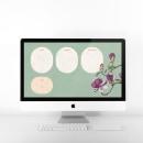 Fondo de pantalla organizador para ordenador iMac, Macbook y iPhone. Um projeto de Ilustração, Design gráfico e Mobile design de Raquel Feria Legrand - 01.06.2021