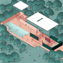 Ilustraciones arquitectónicas. Un proyecto de Ilustración, Arquitectura y Visualización arquitectónica de Andrea Pineda - 26.03.2021