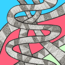 Doodle-Tangle-Snakes-Test. A Illustration project by Sylvia Haendschke - 07.02.2021