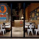 Pizza Paleta. Un proyecto de Arquitectura interior, Diseño de interiores, Interiorismo y Visualización arquitectónica de Barbara Lopez Lovera - 06.07.2021
