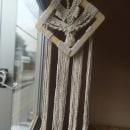 Meu projeto do curso: Introdução à tapeçaria em macramê. Un proyecto de Diseño de complementos, Artesanía, Tejido y Macramé de Thais Silva - 07.07.2021
