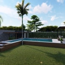 Alberca Residencial . A Design, Architecture, 3d modeling, and Design 3D project by Raul Ceballos - 04.23.2020